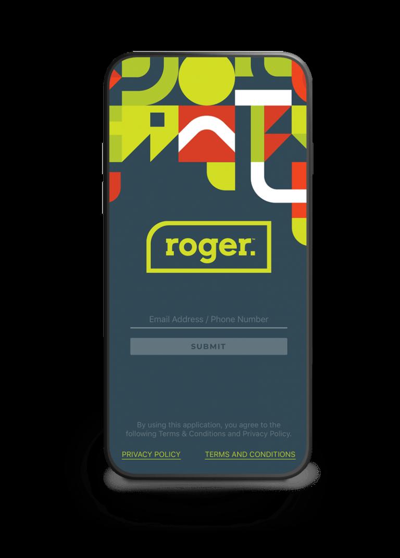 Screenshot of Roger login page